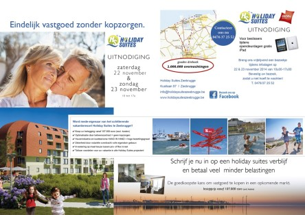 Uitnodiging Holiday Suites opendeurdagen 22 en 23 nov 2014