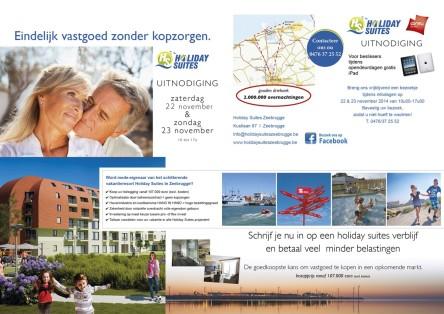 Uitnodiging Holiday Suites opendeurdagen 22 en 23 nov 2014